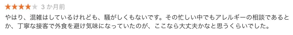 JR東京駅八重洲北口店の口コミ1