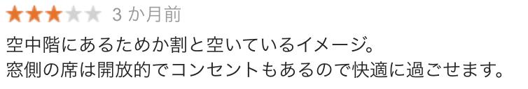 東京駅日本橋口店の口コミ1